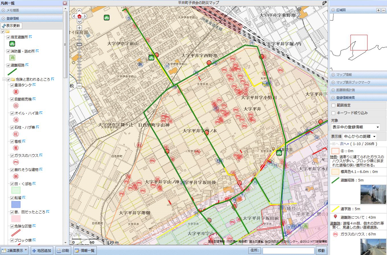 平井町子供会の防災マップ