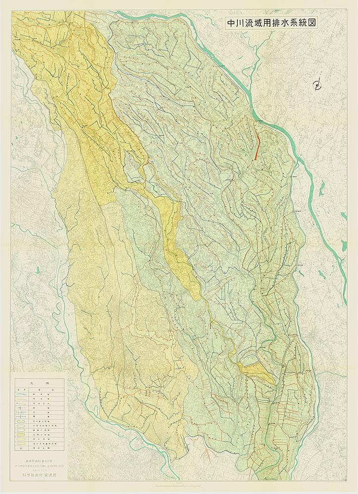 中川流域用排水系統図