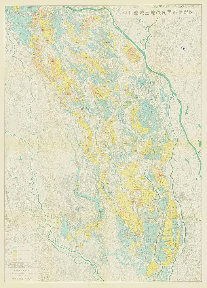 中川流域土地改良実施状況図