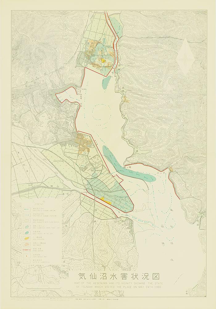 気仙沼水害状況図