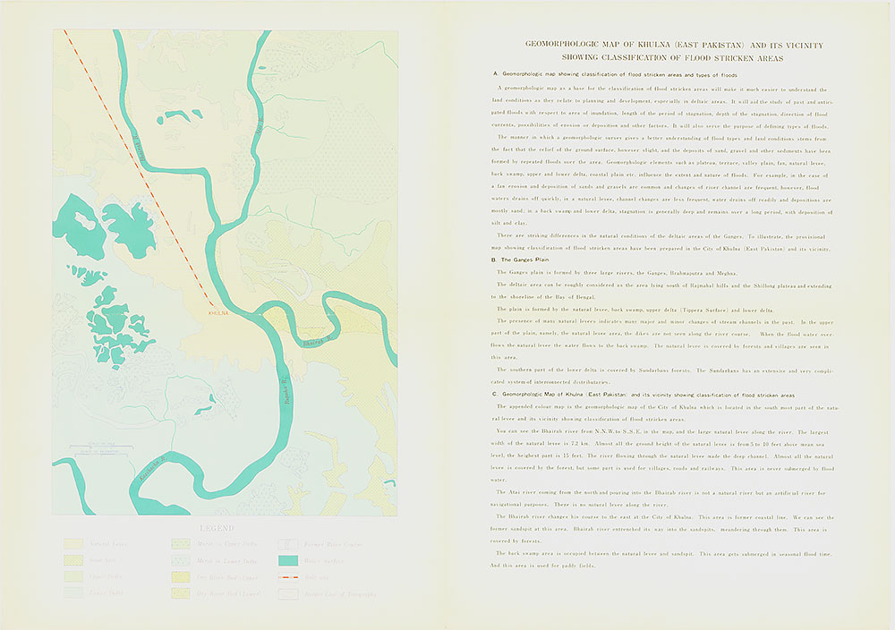 Geomorphologic Map of Khulna (East Pakistan) and Its Vicinity Showing Classification of Flood Stricken Areas