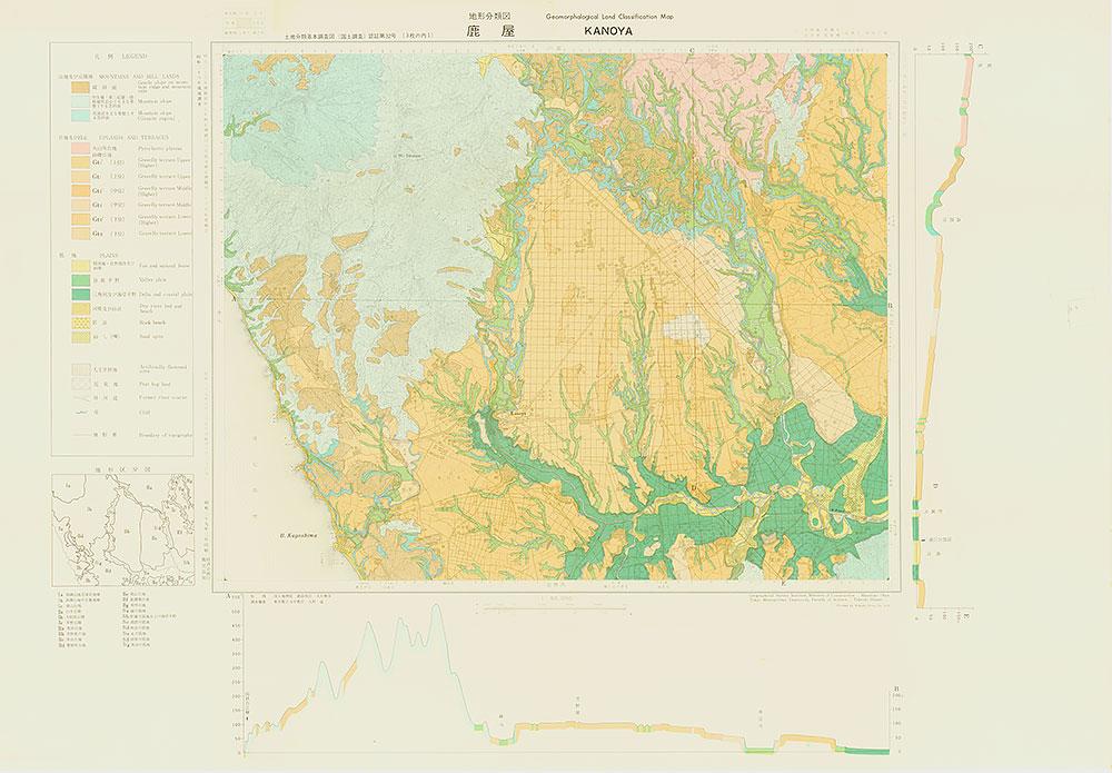 鹿屋・地形分類図