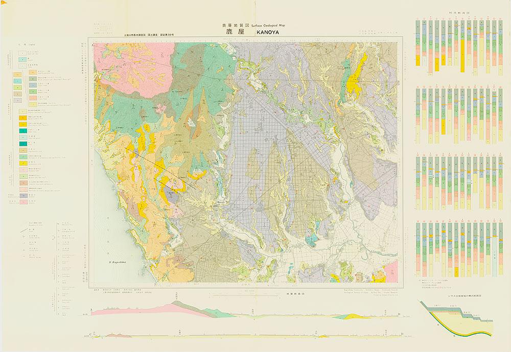 鹿屋・表層地質図