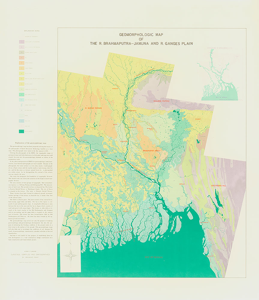 Geomorphologic Map of the R. Brahmaputra-Jamuna and R. Ganges Plain