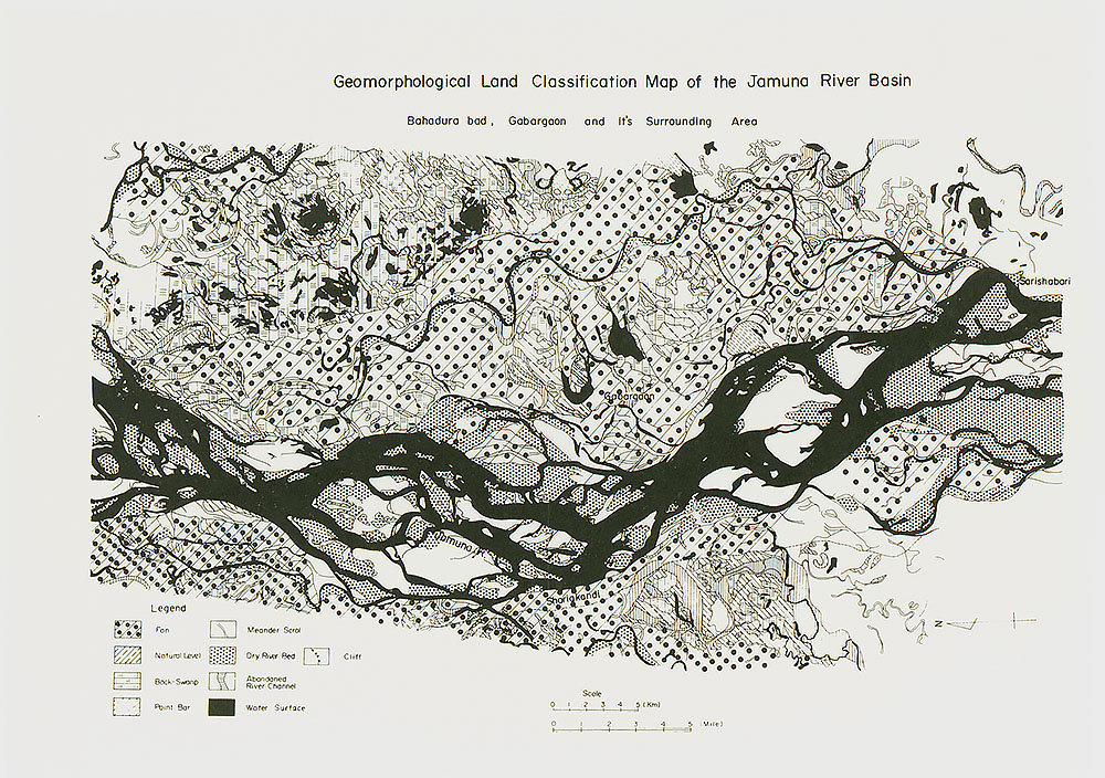 Geomorphological Land Classification Map of the Brahmaputra-Jamuna River Basin, Gabargaon Areas