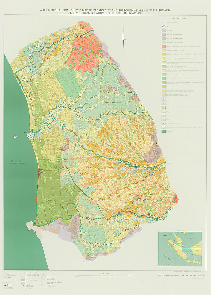 A Geomorphological Survey Map of Padang City and surrounding Area in West Sumatra Showing Classification of Flood Stricken Areas