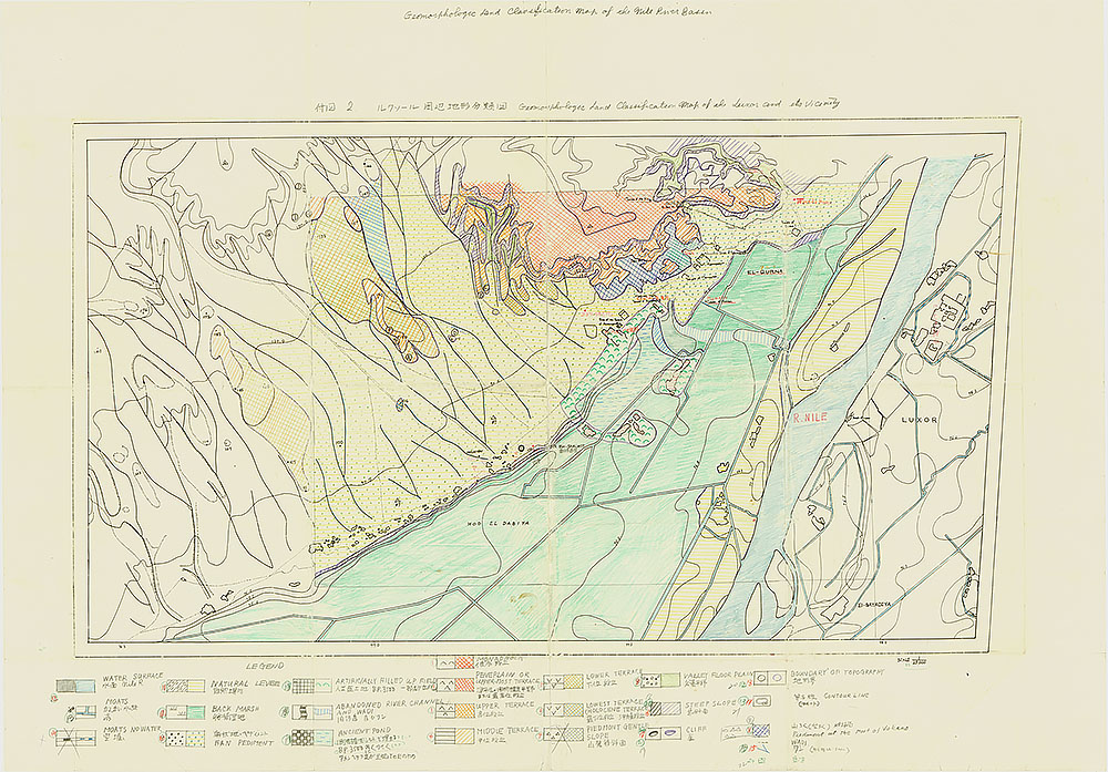 Geomorphologic Land Classification Map of the Luxor and its Vicinity (彩色原図)