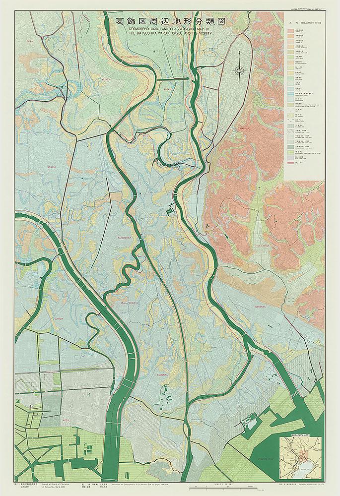 葛飾区周辺地形分類図