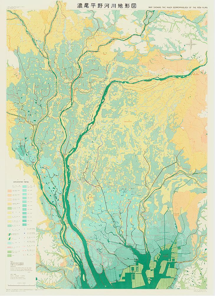 濃尾平野河川地形図