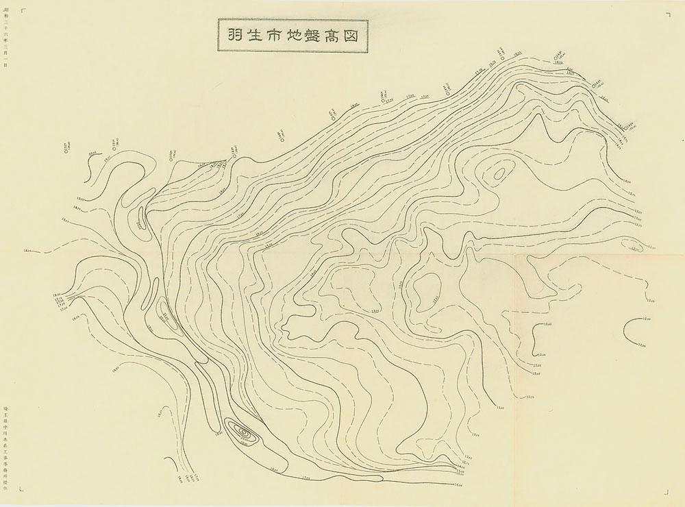 羽生市地盤高図